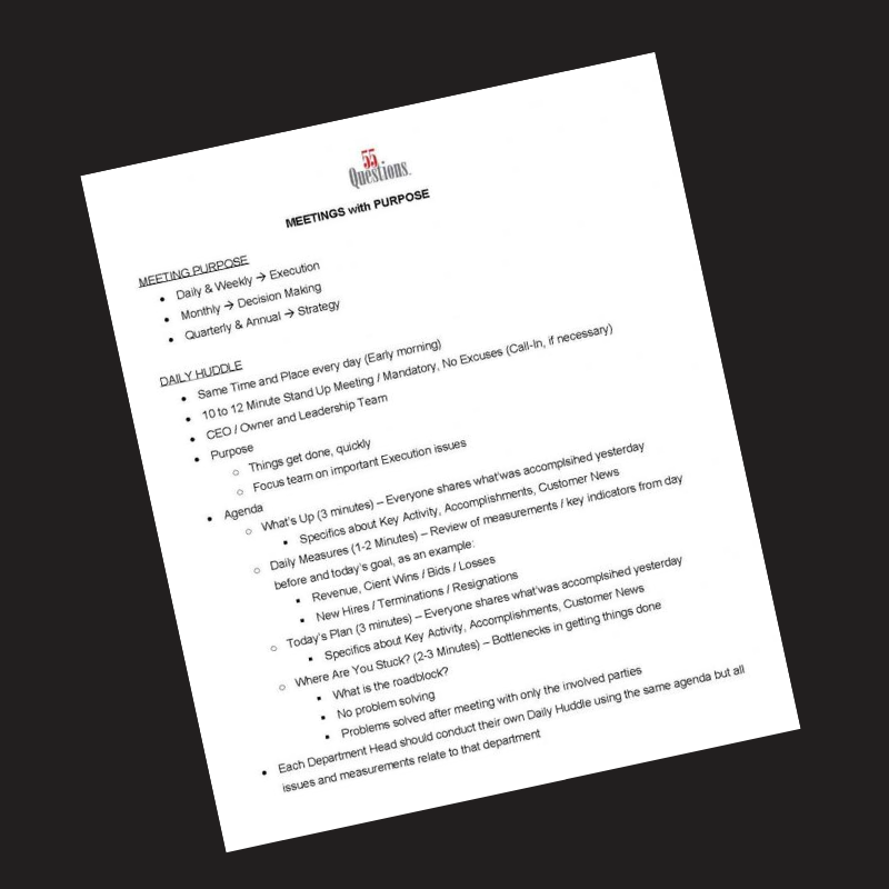 Meetings With Purpose Document